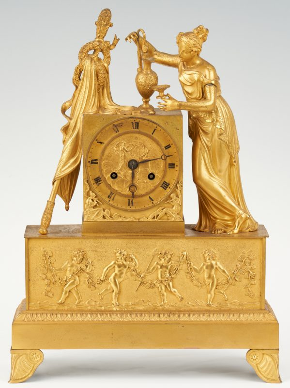 Lot 96: French Ormolu Neoclassical Clock