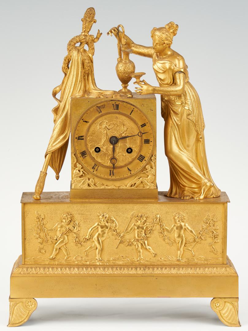 Lot 96: French Ormolu Neoclassical Clock