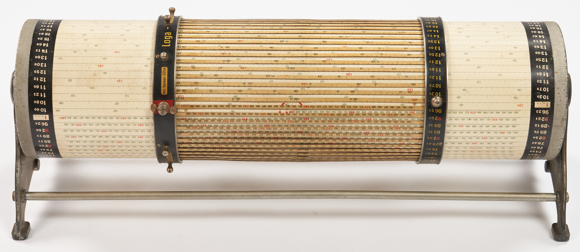 Lot 972: 3 Loga Rechenwalzen Cylindrical Calculating Drums