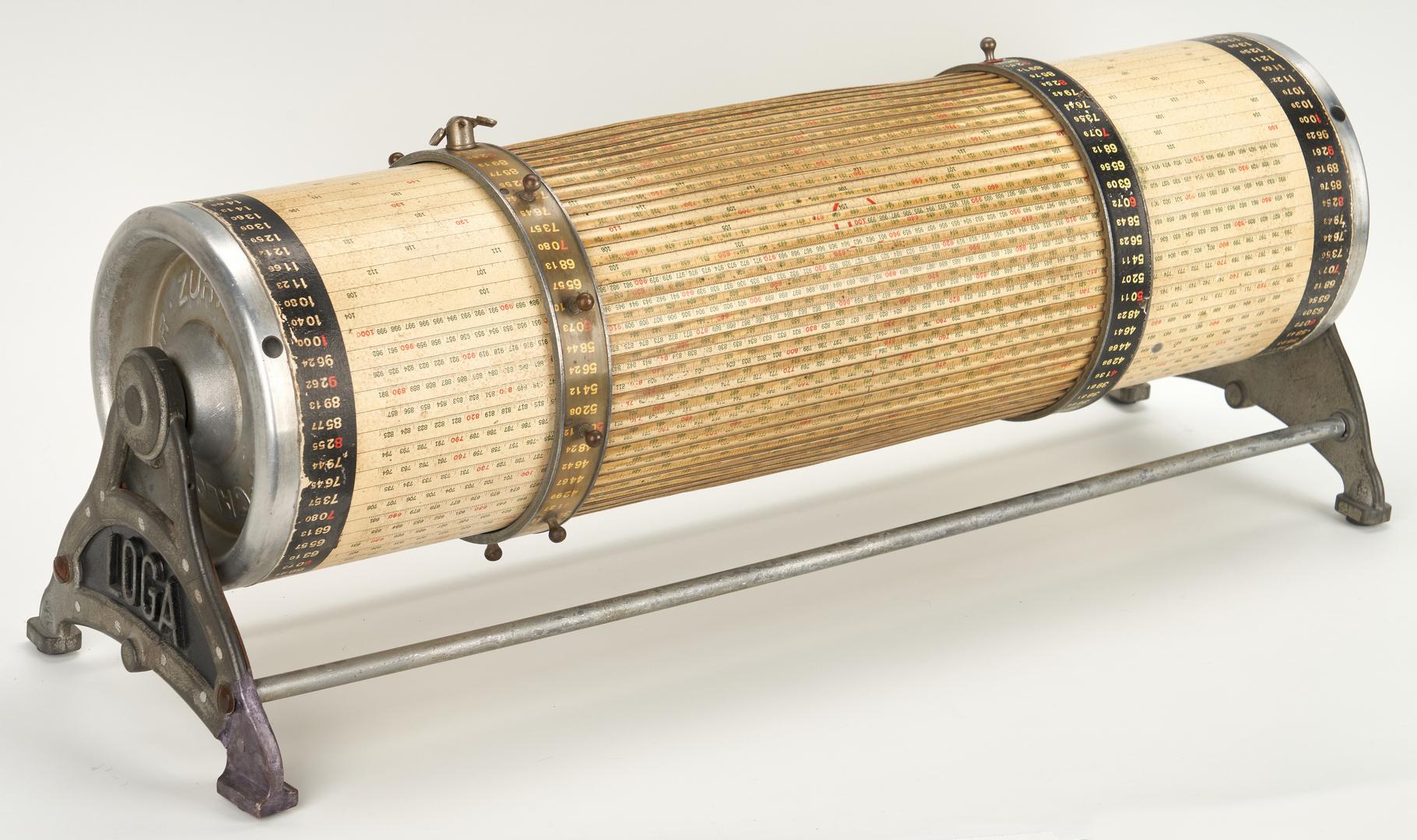 Lot 976: 2 Swiss Rechenwalzen Calculating Drums