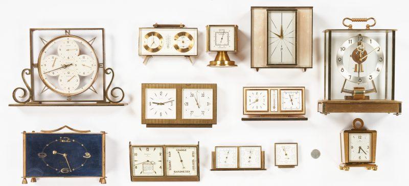 Lot 978: 12 German/Swiss Clocks, incl. Seth Thomas, Elgin