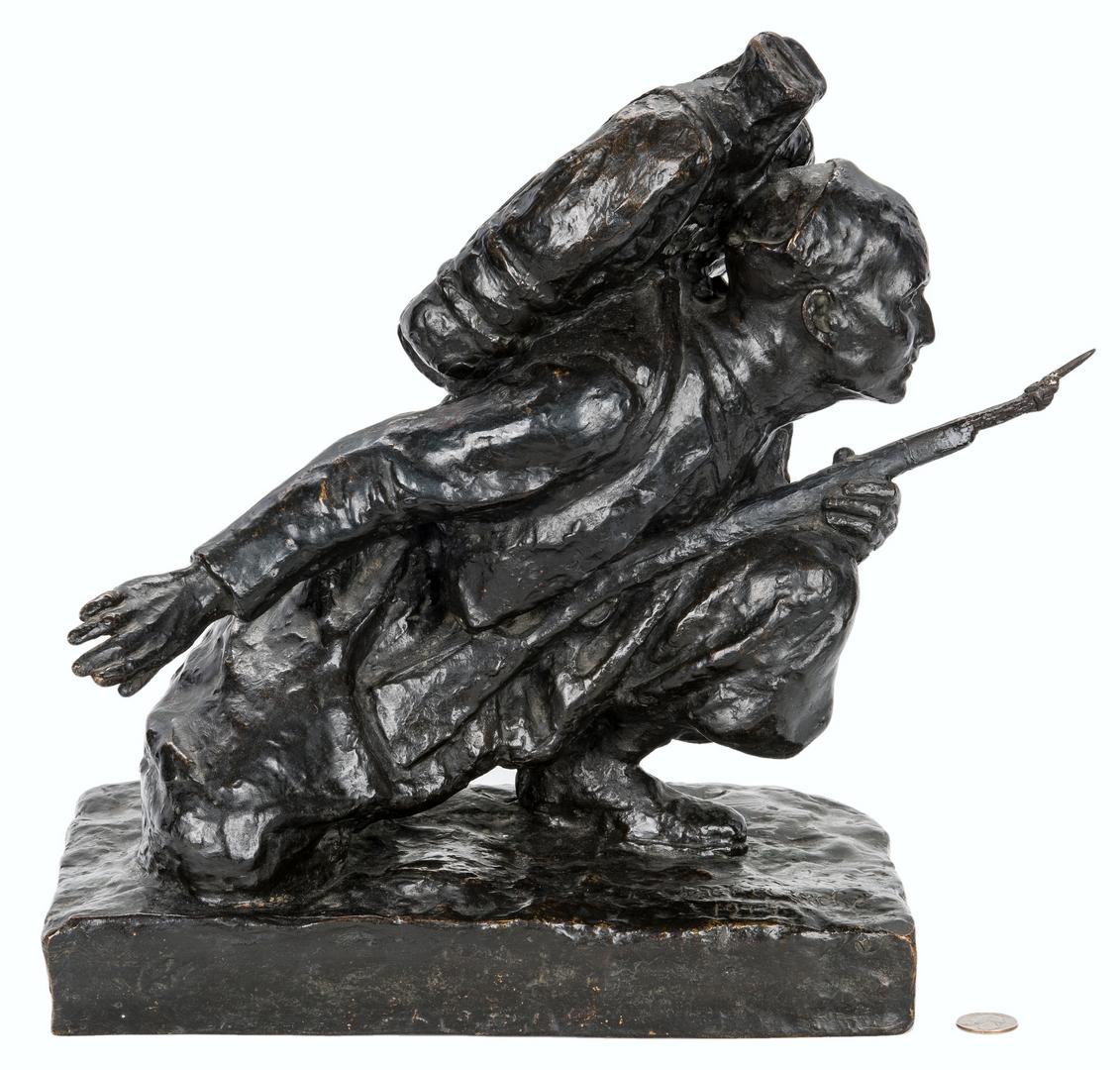 Lot 983: WWI Bronze Figural Sculpture of a Soldier