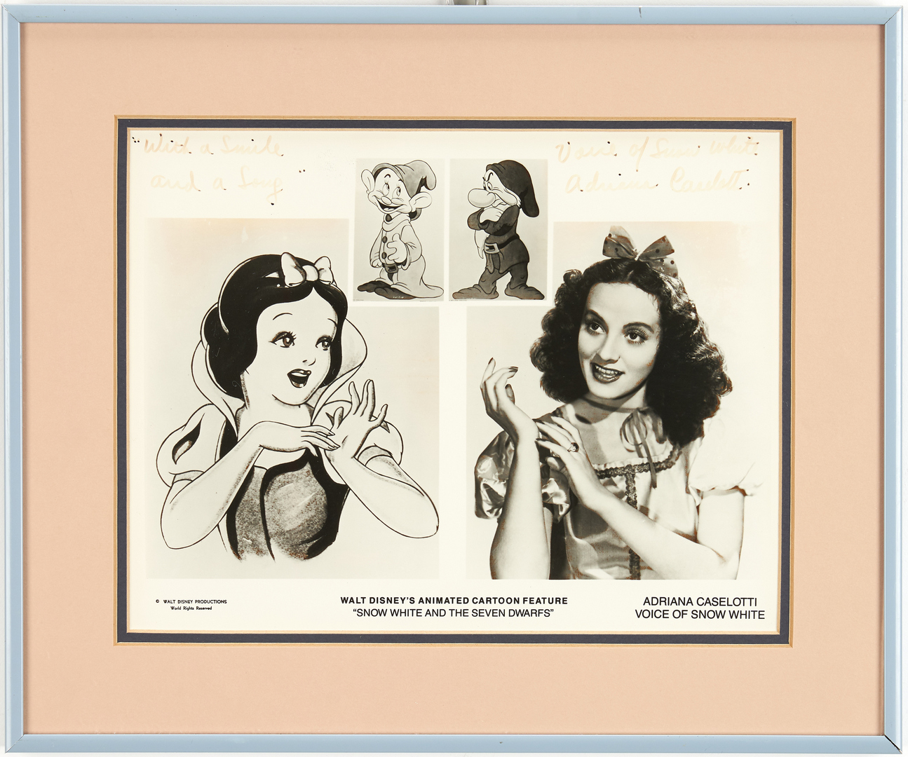 Lot 986: 7 Disney Snow White Animation related items