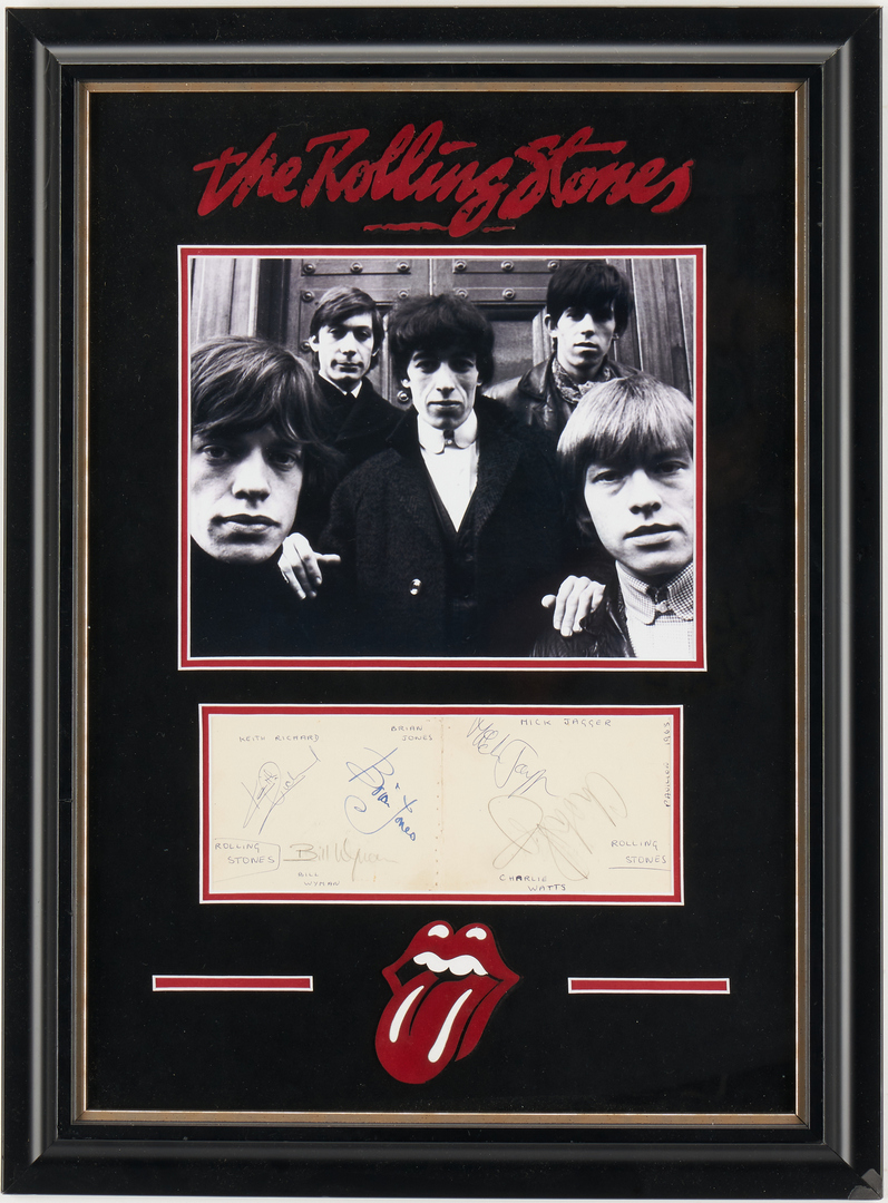 Lot 987: Rolling Stones Signed Album Pages, Circa 1965
