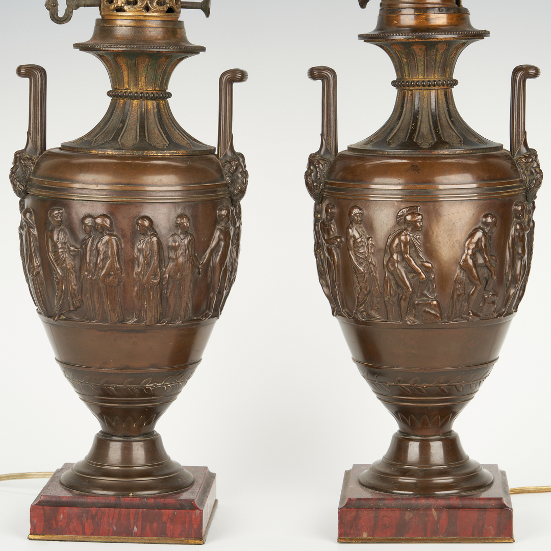 Lot 98: 3 Lamps incl. Barbedienne Bronze Urns