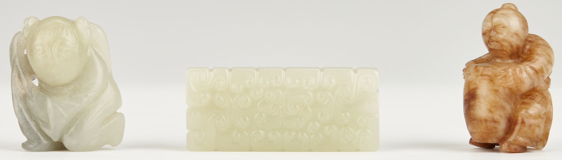 Lot 991: 11 Chinese Carved Jade Items