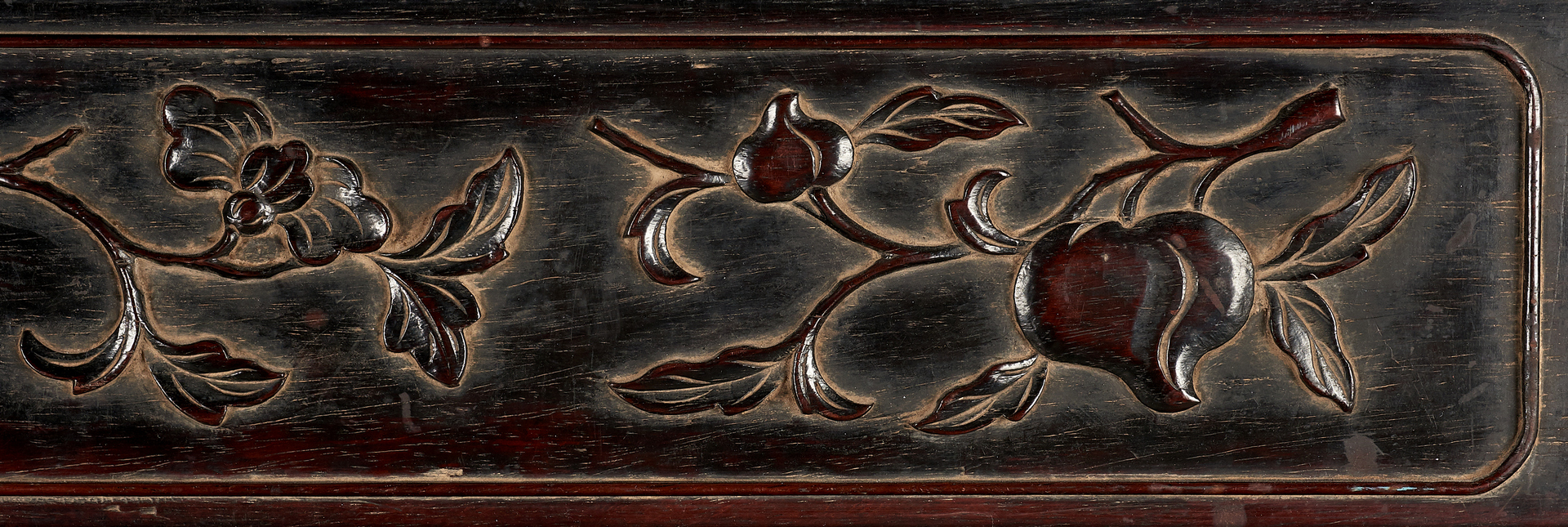 Lot 994: Asian Carved Frame and Watercolors plus 3 Hardwood Plaques