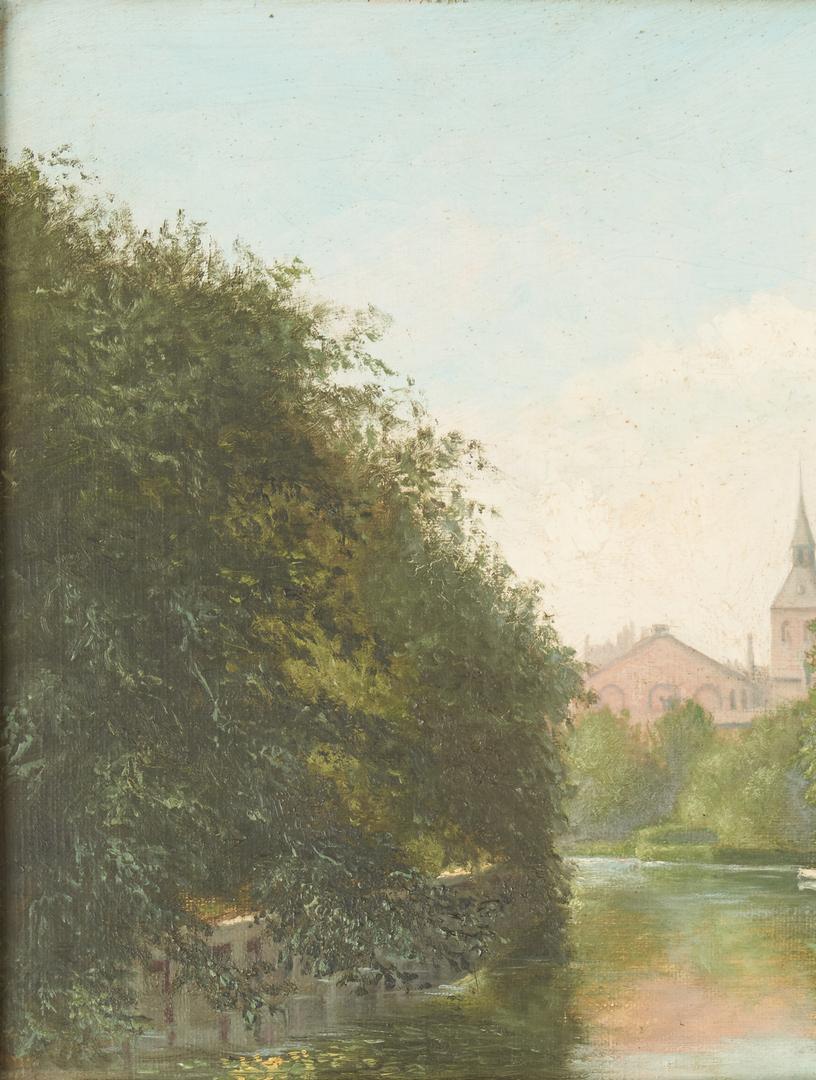 Lot 1000: 3 European School Oil Paintings, Signed