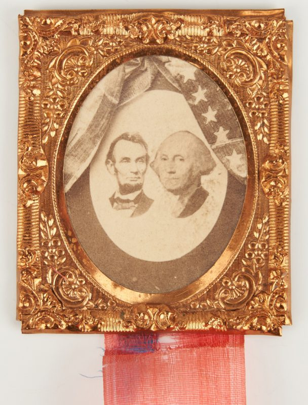 Lot 1002: Abraham Lincoln Mourning Ribbon Badge