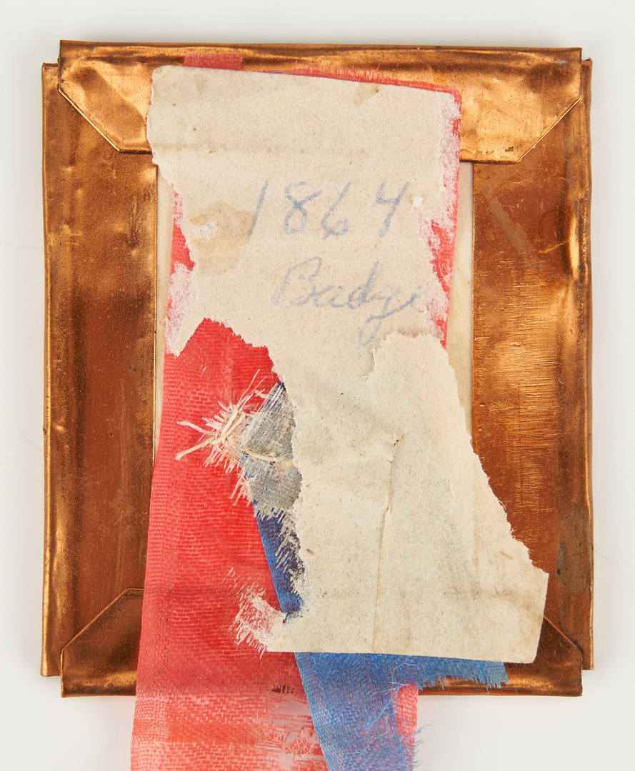 Lot 1002: Abraham Lincoln Mourning Ribbon Badge