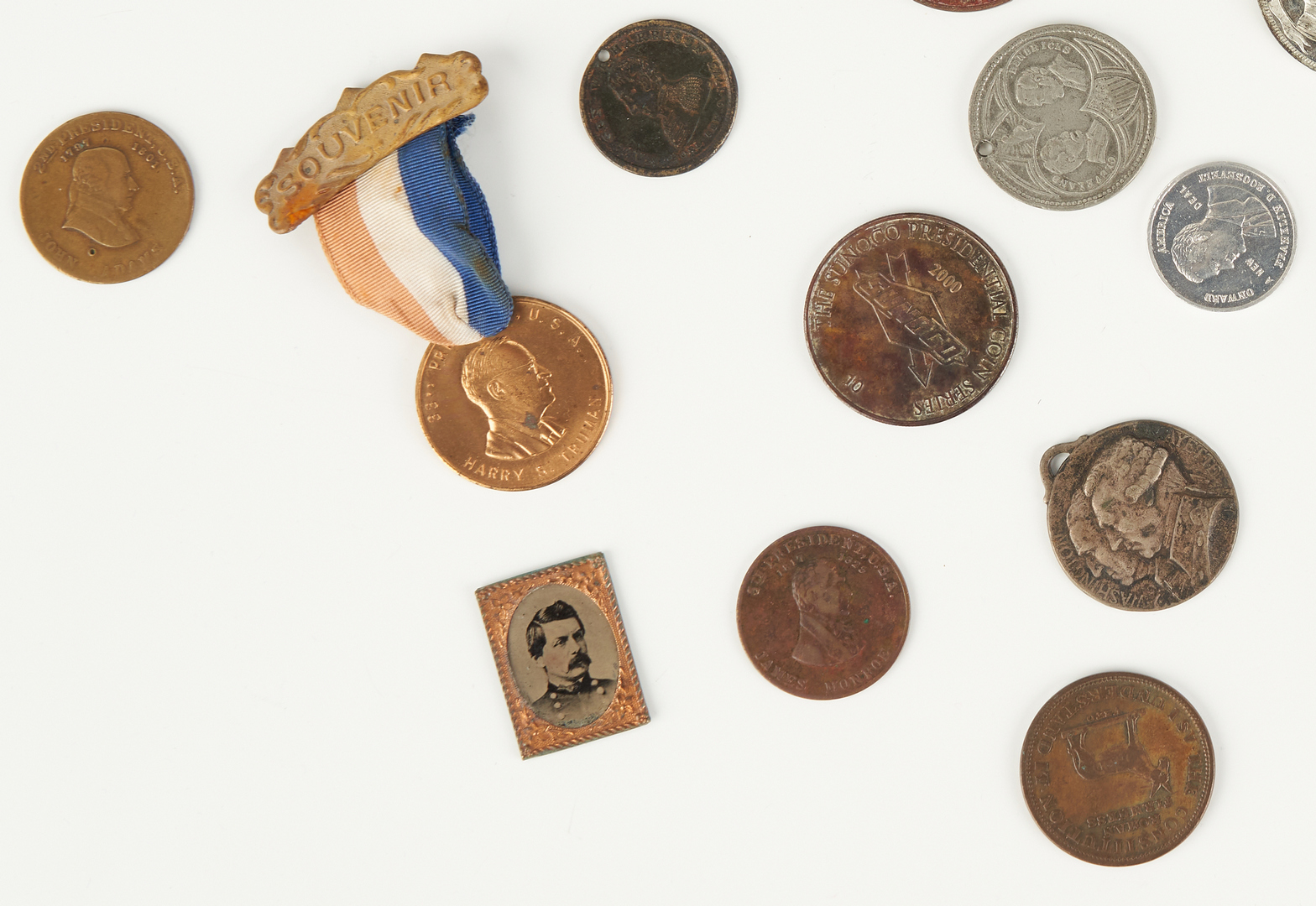 Lot 1004: 31 Political Ephemera Items, incl. Roosevelt Pocket Knife