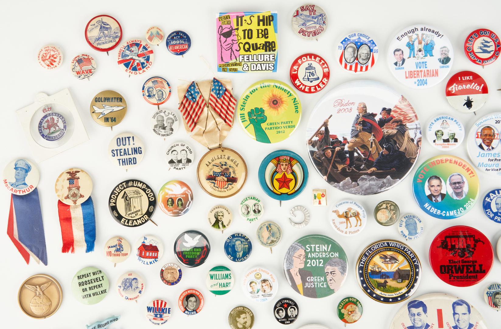 Lot 1005: 144 Political, War, and Misc. Ephemera Items, incl. Buttons