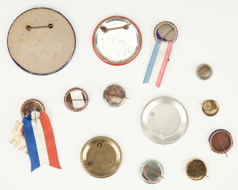 Lot 1013: 13 Political Ephemera Items, incl. Truman, Johnson