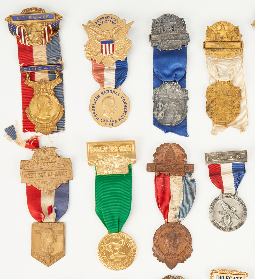Lot 1016: 21 Political Party Convention Badges, dated 1897-1996