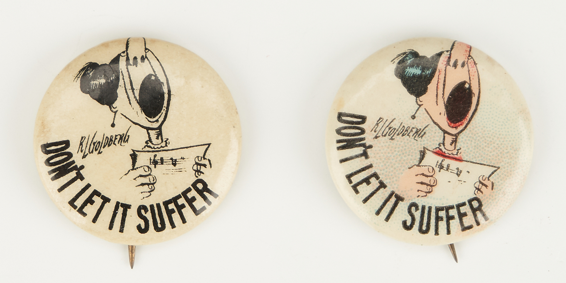 Lot 1018: 5 Women's Suffrage Buttons, incl. CWSA Votes for Women