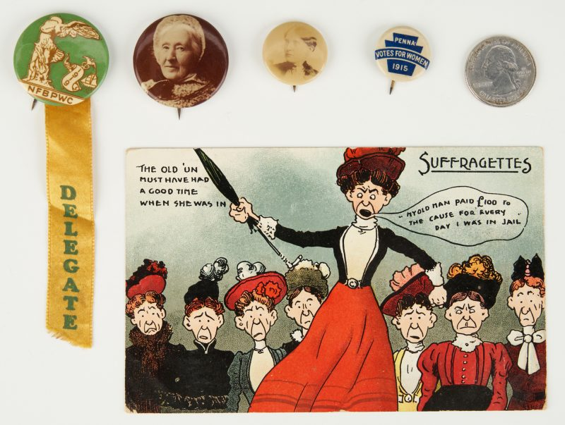 Lot 1019: 5 Women's Suffrage Related Ephemera Items
