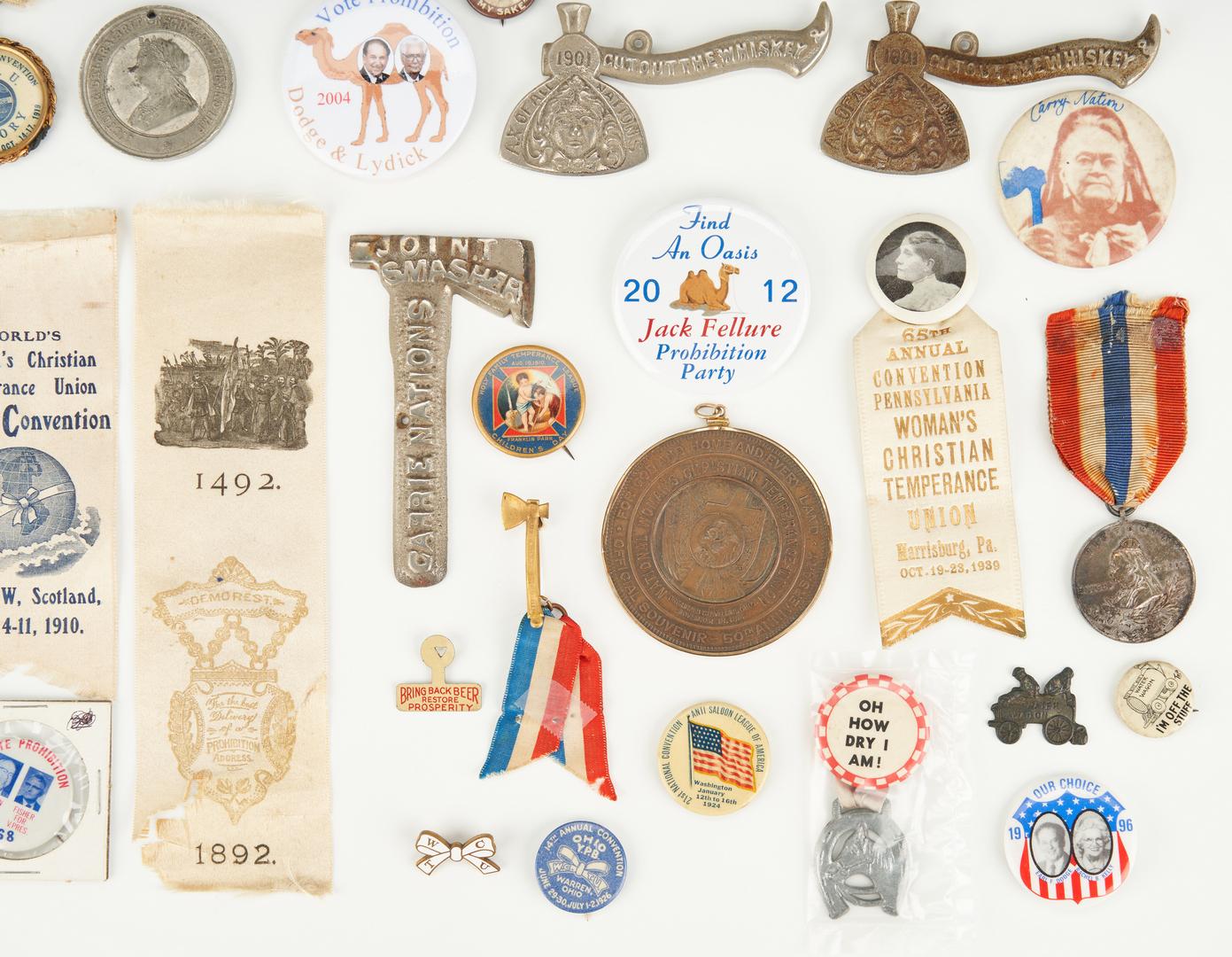 Lot 1020: 56 Prohibition/Temperance Ephemera Items, incl. Buttons