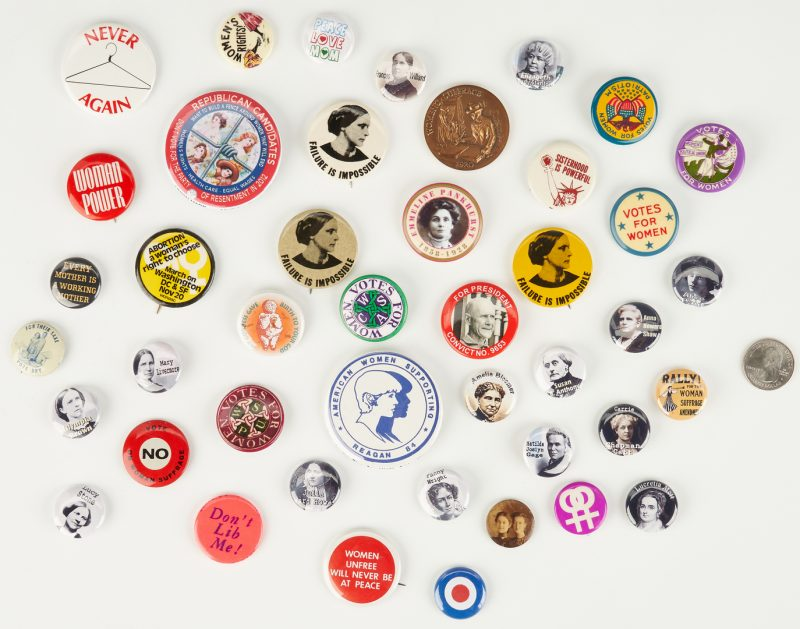 Lot 1024: Reproduction Women's Suffrage Buttons