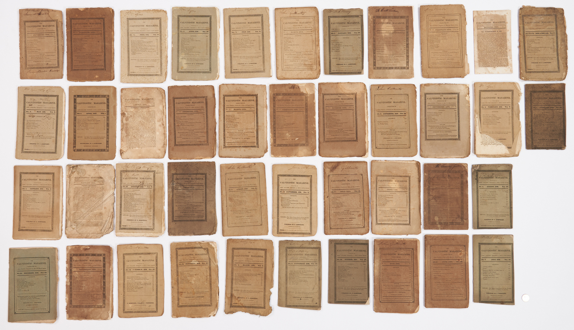 Lot 1030: 42 Calvinistic Magazines, Rogersville, TN, circa 1827-31