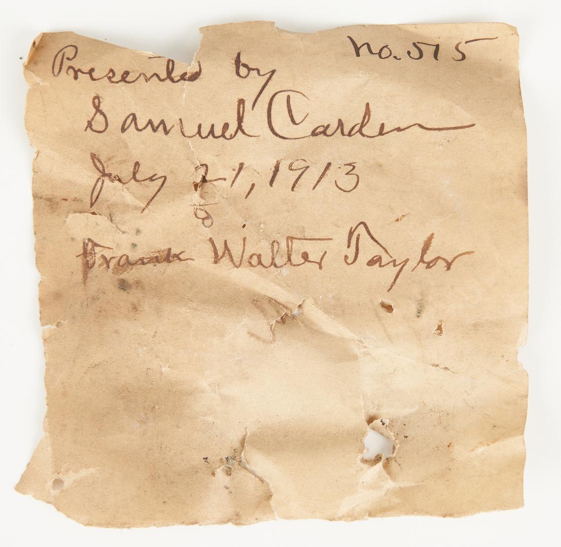 Lot 1035: 2 Civil War Reunion Badges, incl. UCV FL 1913