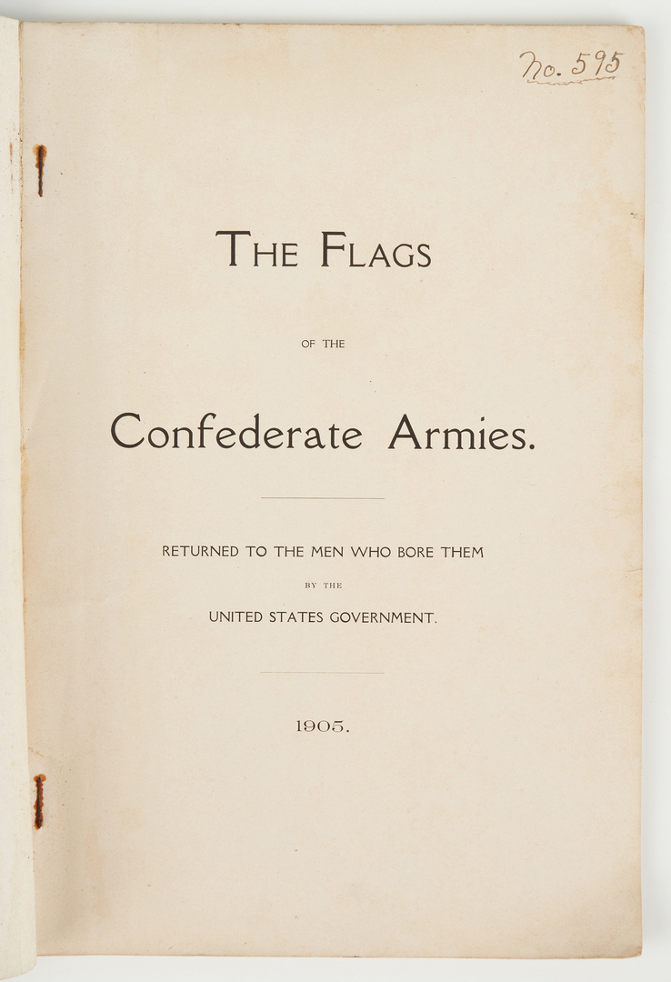Lot 1036: 2 Civil War Related Books, incl. Hancock's Diary