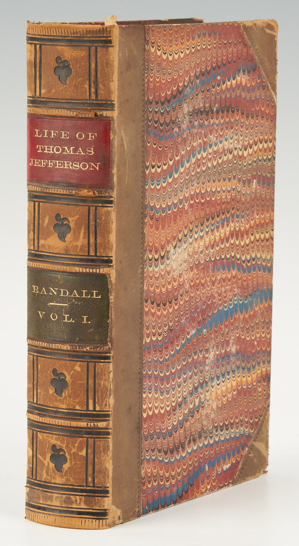 Lot 1037: 12 Book Set, Works and Life of Thomas Jefferson, 1854-59