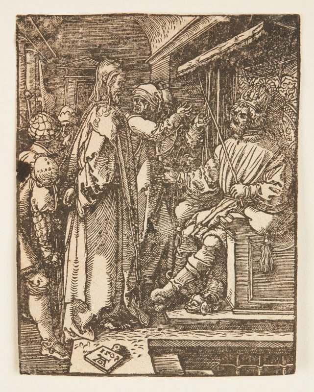 Lot 103: Albrecht Durer Woodcut, Christ Before Herod