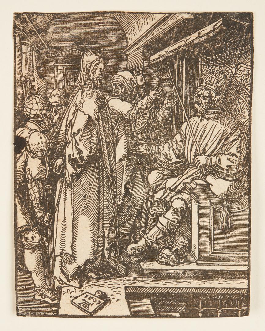 Lot 103: Albrecht Durer Woodcut, Christ Before Herod