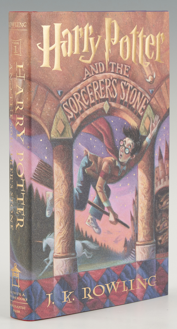 Lot 1040: 7 Am. 1st Ed. Harry Potter, incl. Rowling Signed
