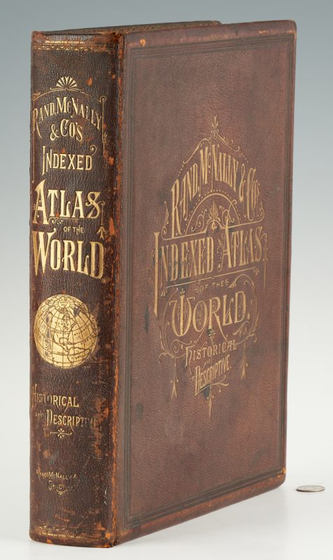 Lot 1041: Rand, McNally, & Co. World Atlas, 1881