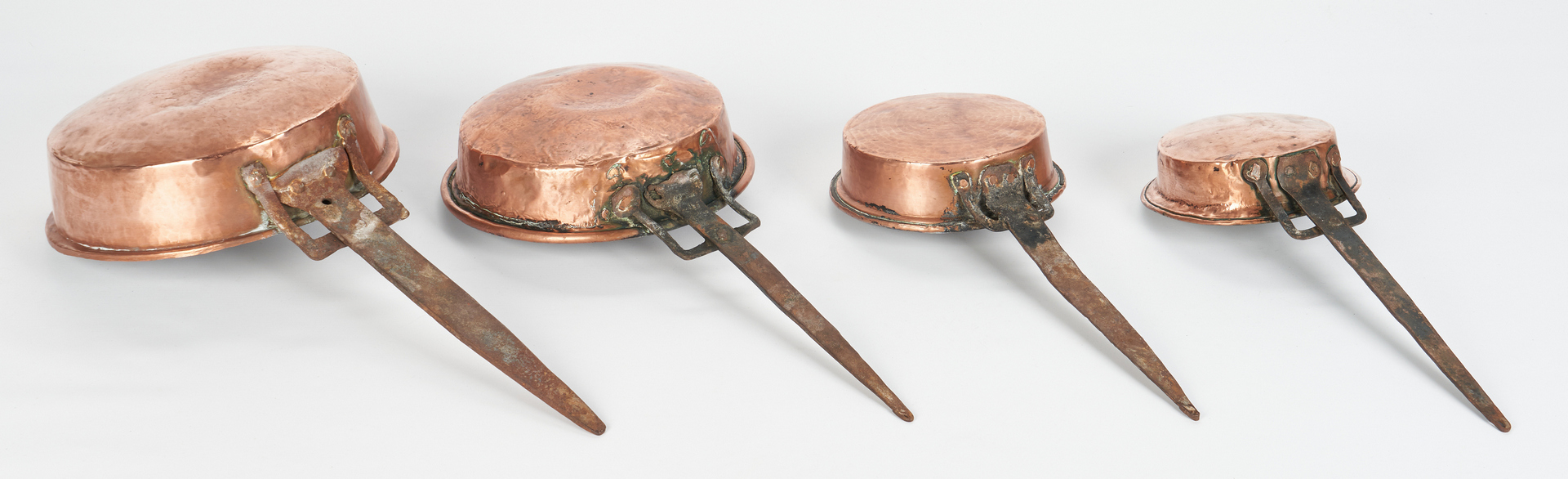 Lot 1049: 10 pcs. Early Copper Cookware inc. Signed