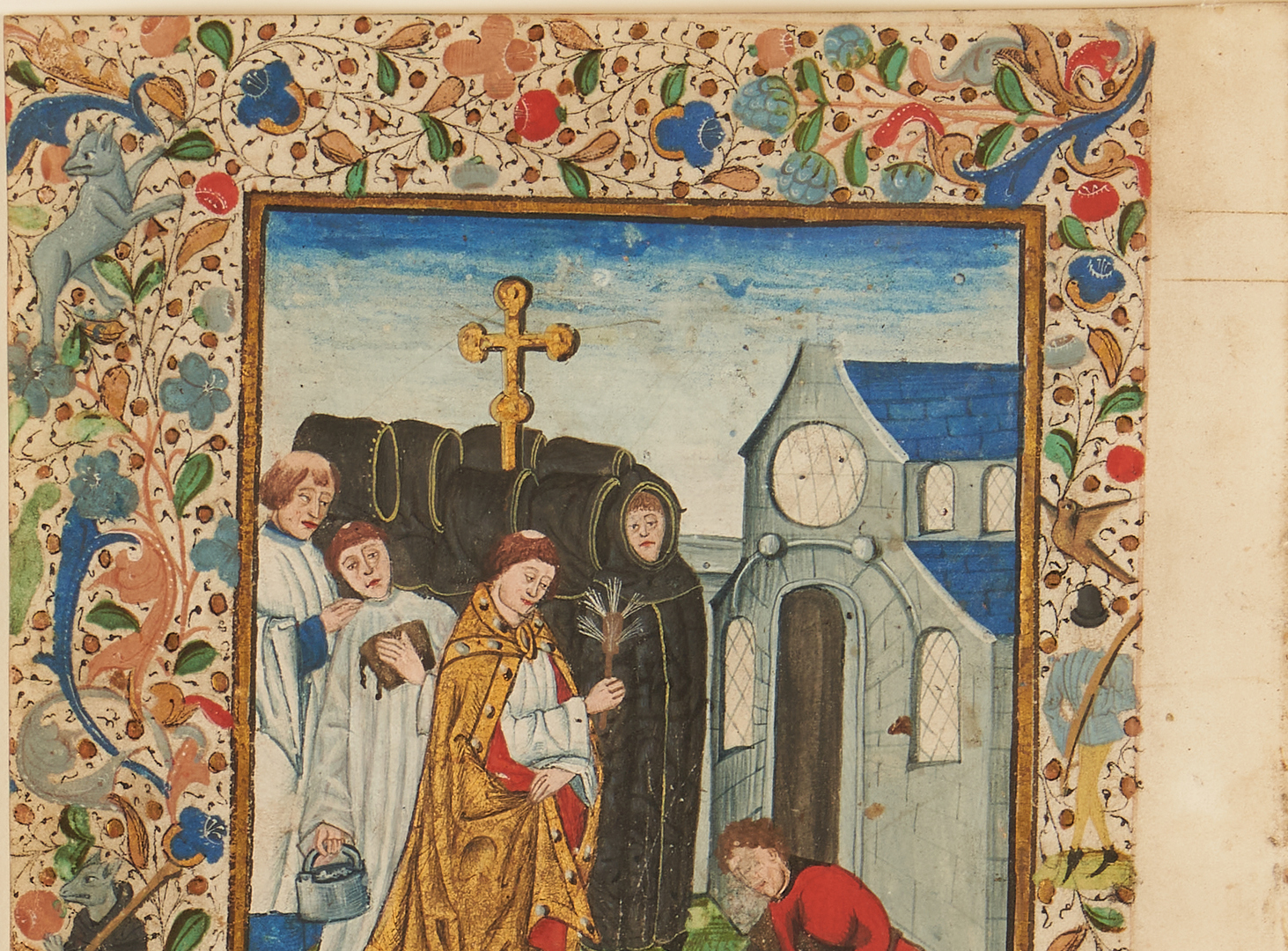 Lot 104: Illuminated Miniature from Book of Hours – Burial