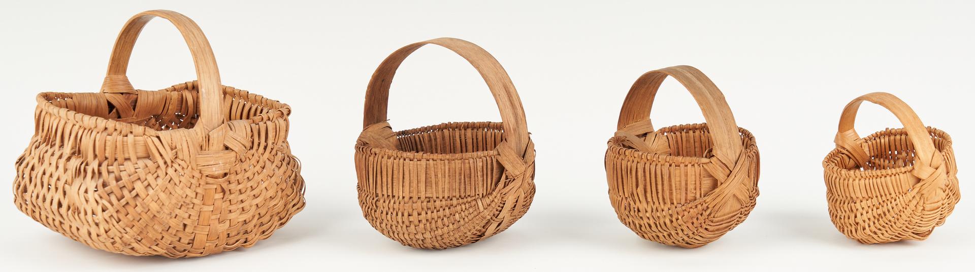 Lot 1056: 12 American Miniature Baskets, Prob. Southern