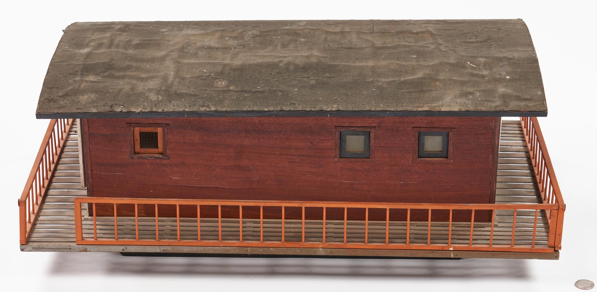 Lot 1058: Folk Art Model of a Shanty Boat