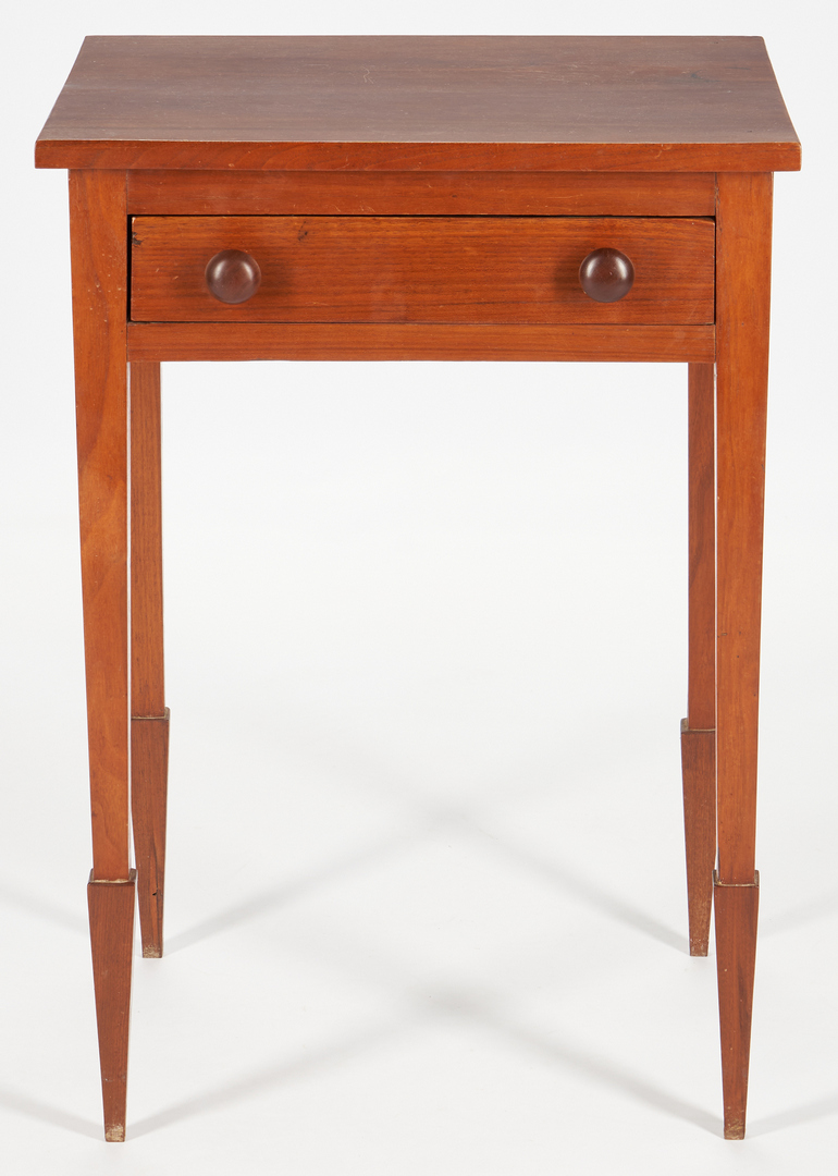 Lot 1066: Middle TN One Drawer Stand, Spade Feet