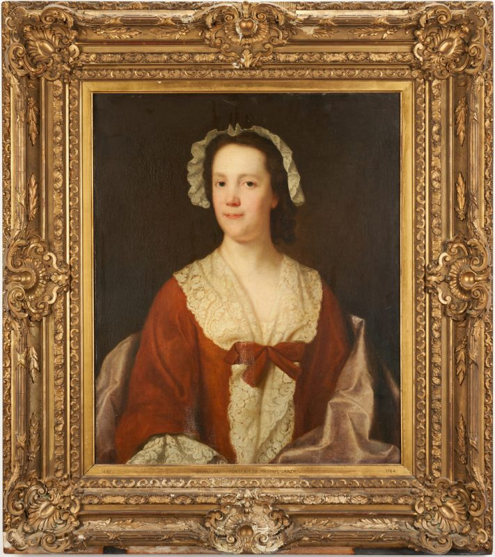 Lot 106: 18th c. English School Portrait of a Woman, O/C
