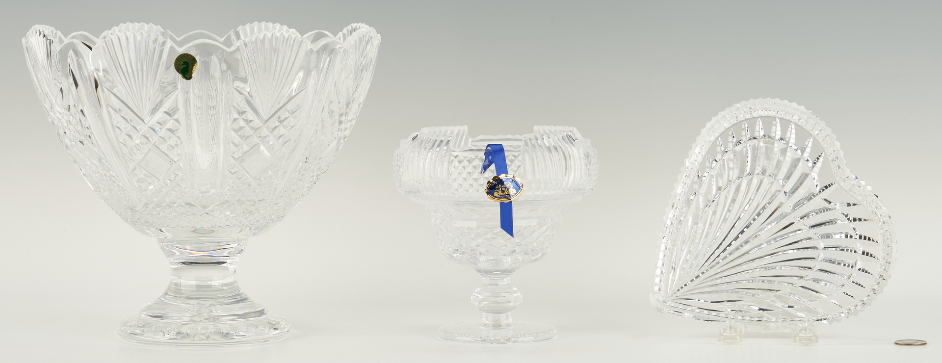 Lot 1081: 3 Cut Crystal Items, Waterford & Tipperary