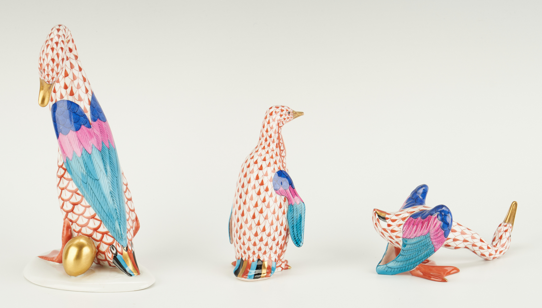 Lot 1084: 8 Herend Items, incl. Animal Figures