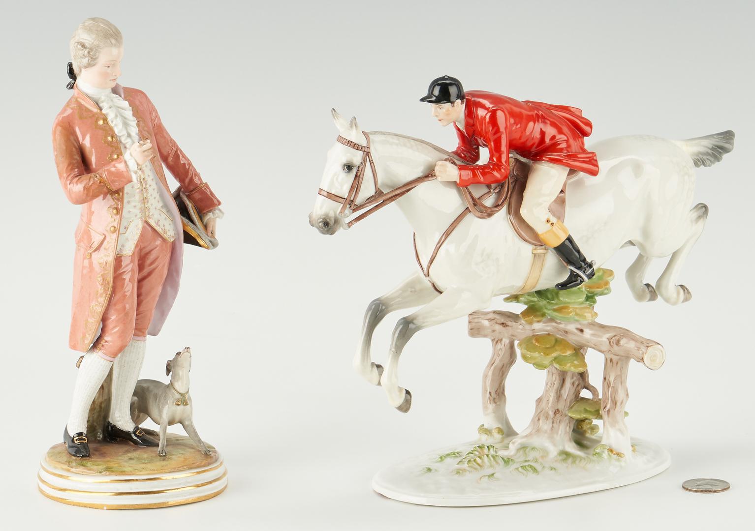 Lot 1085: 2 European Porcelain Male Figures, incl. Meissen, Augarten Wien