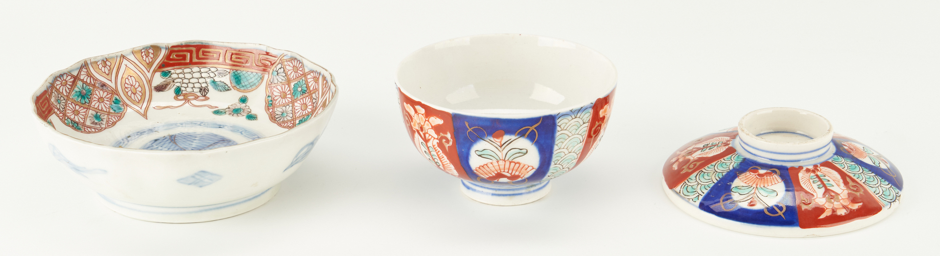 Lot 1092: 14 Japanese Imari or Arita Items, incl. Charger