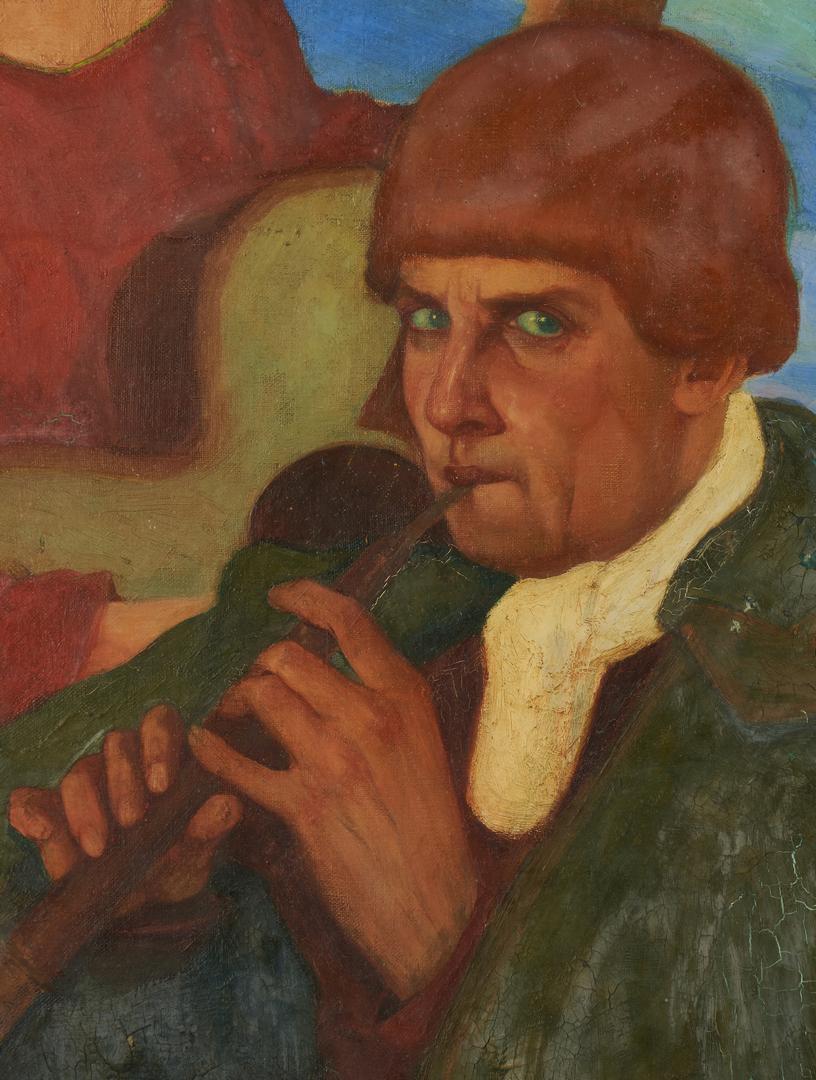 Lot 109: U. Brunelleschi O/C, Serenading Musicians