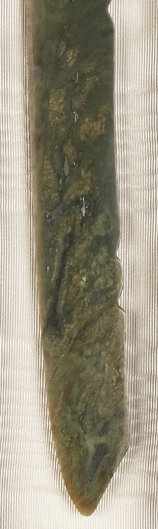 Lot 1100: Chinese Child's Collar and Jade Knife