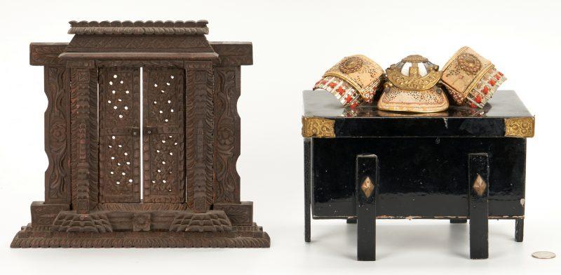 Lot 1107: Asian Samurai Box & Shrine Portal