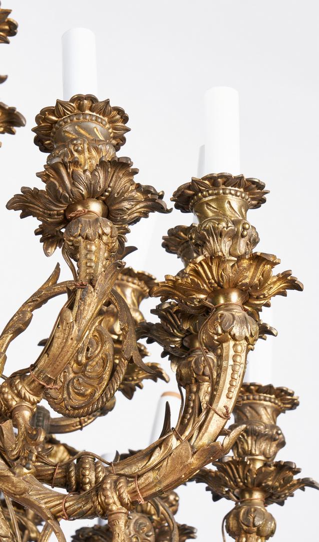 Lot 1110: 19th Century Gilt Bronze Chandelier #1