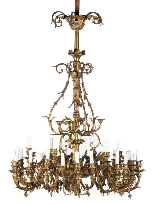 Lot 1111: 19th Century Gilt Bronze Chandelier # 2