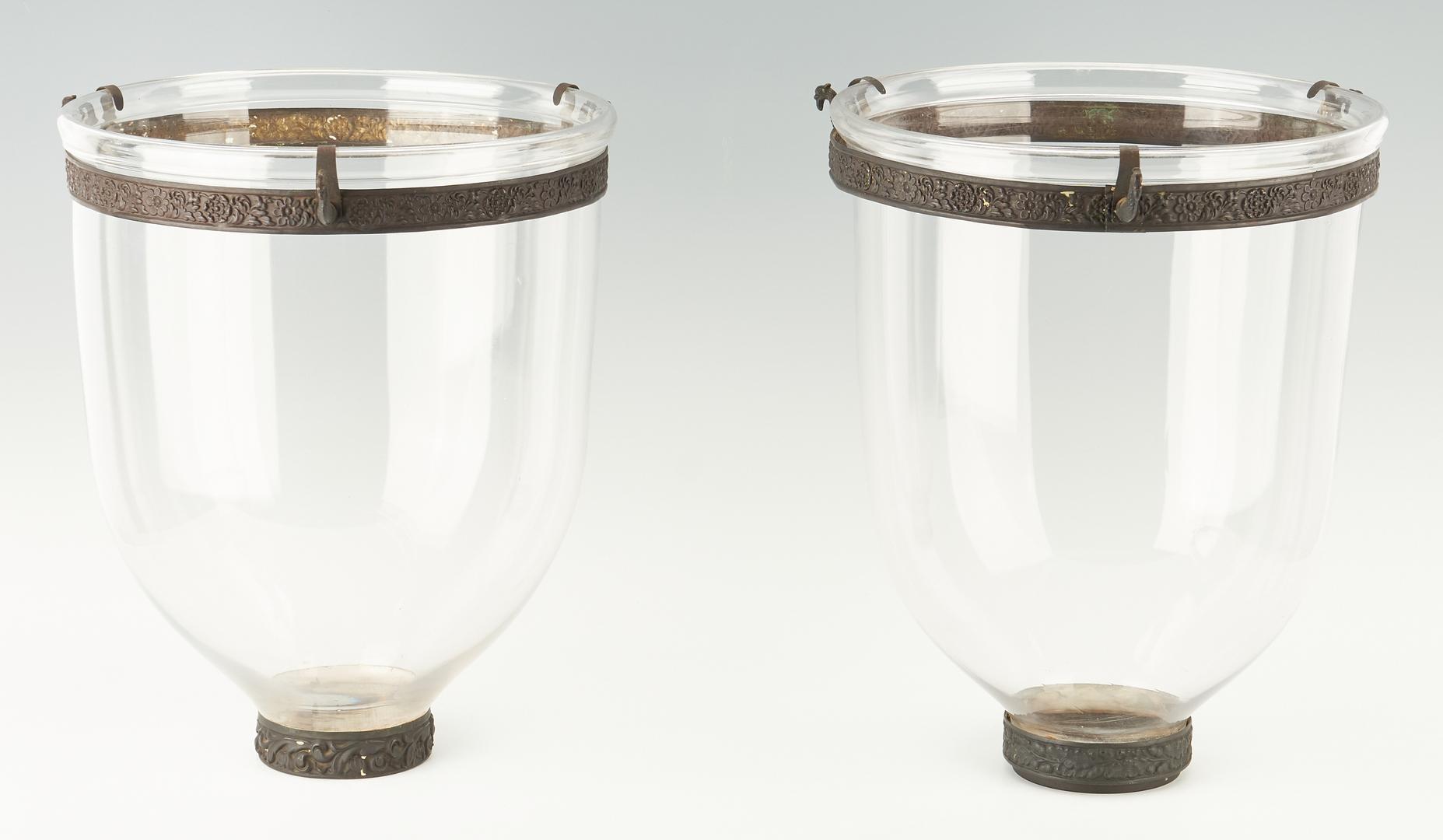 Lot 1113: 2 Bell Jar Lantern Chandeliers