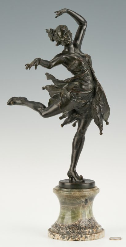 Lot 1118: Austrian Bronze Sculpture, Dancing Girl