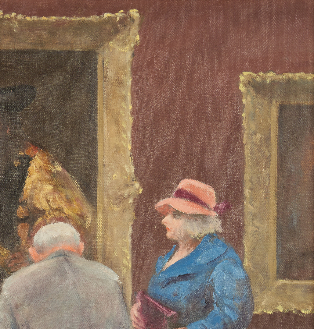 Lot 111: Clyde Singer O/C Painting, Masterpiece at the Met