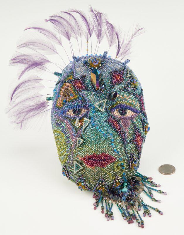 Lot 1121: Wendy Seaward Beaded Mask