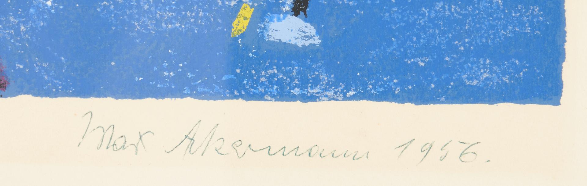 Lot 1127: Max Ackermann Abstract Print, 93/100